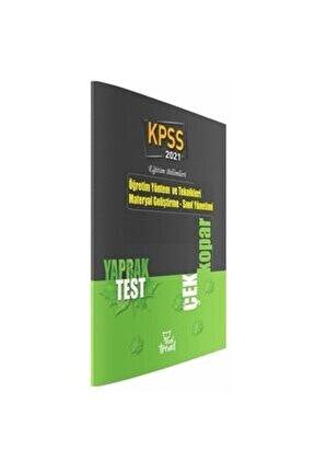 2021 Kpss Eğitim Bilimleri Öğretim Yöntem Teknikleri Yaprak Test Beyaz Kalem