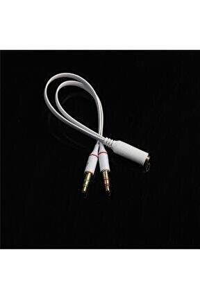 3.5 Mm Aux Kulaklık Mikrofon Dönüştürücü Birleştirici Kablo