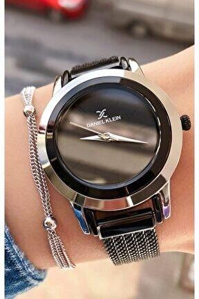 Kadın Siyah Marka Saat Bileklik
