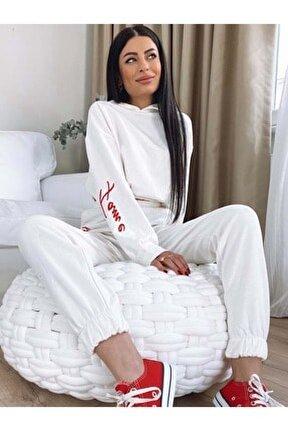 Fame Kapşonlu Takım Üst - Beyaz - S - Prpx34000580-beyaz-s