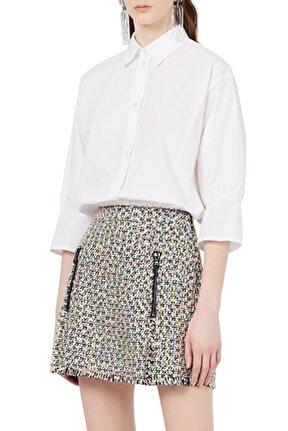Kadın Beyaz Büzgülü Gömlek 3k2c68 2n0fz 0100