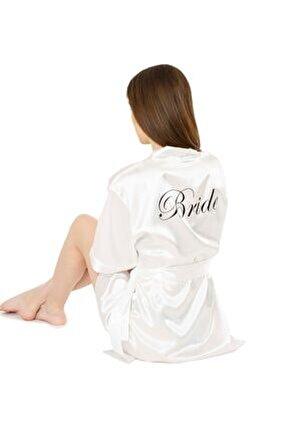 Saten Bride Sabahlık Gelin Sabahlığı