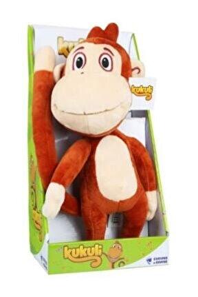 Kahverengi Maymun Müzikli Peluş Oyuncak