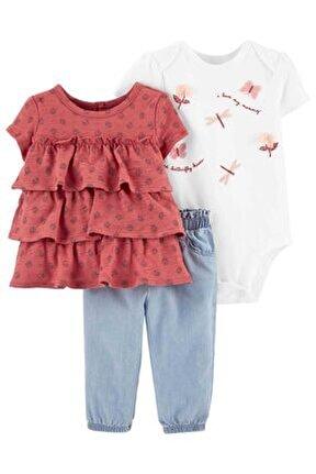 Kız Bebek Turuncu Safari Koleksiyonu 3'lü Set