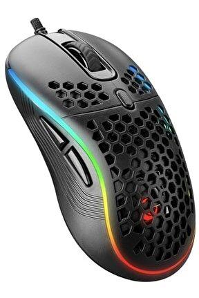 Smx-r85 Gentle 6400dpi Rgb Ledli Süper Hafif Makrolu Gaming Oyuncu Mouse