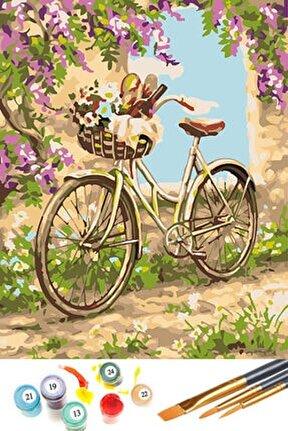 Sayılarla Boyama Hobi Seti 40x50 Cm Bisiklet