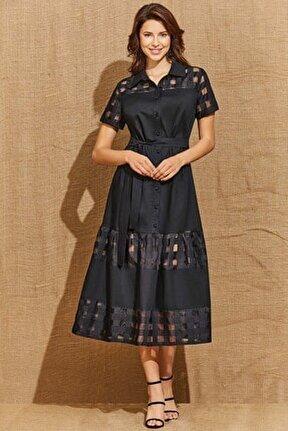 Guıtar Kadın 21256 Siyah Elbise