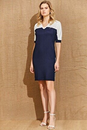 Guıtar Kadın 21059 Lacivert Elbise