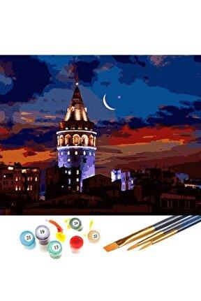Galata Kulesi Sayılarla Boyama Hobi Seti 40x50 cm