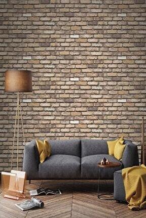 9030 Taş Tuğla Desen 2021 Model Duvar Kağıdı 5,33 M²