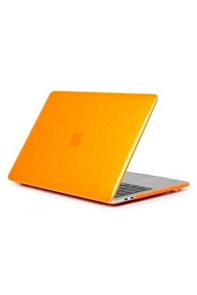 """Apple Macbook Air 13"""" A1466 A1369 Uyumlu Turuncu Kılıf"""
