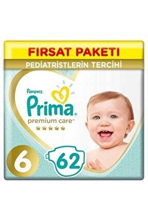 Bebek Bezi Premium Care 6 Beden Ekstra Large Fırsat Paketi 62 Adet