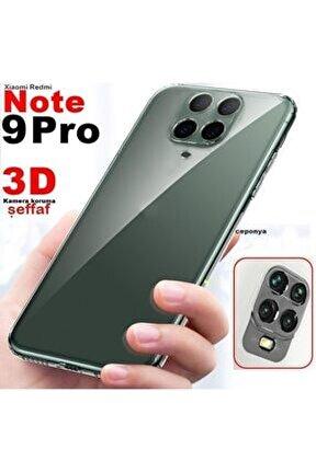 Redmi Note 9s - 9 Pro 3d Maximum Kamera Korumalı Şeffaf Kılıf