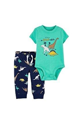 Erkek Bebek Yeşil Takım 2'li 1k043010