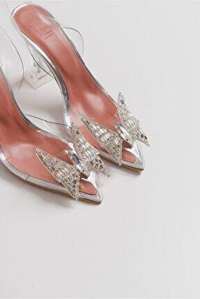 K1 Kadeh Ökçeli Şeffaf Kadın Topuklu Sandalet