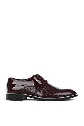 Erkek Bordo Rugan Klasik Ayakkabı Tb-571