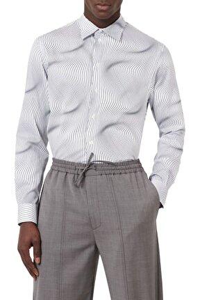 Erkek Beyaz Düz Yaka % 100 Pamuk Gömlek A13f6 036