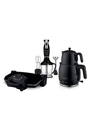 Zambak 3lü Çeyiz Seti Blender Set Tost Çay Makinesi