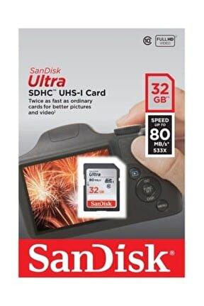 Ultra SDHC 80MB/s Class 10 UHS-I Hafıza Kartı  32 GB SDSDUNC-032G-GN6IN