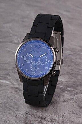 Plks001r04 Kadın Saat Dekoratif Göstergeli Kadran Silikon Kordon