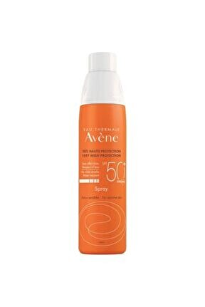 Spray Spf 50+ Hassas Ciltler Için Çok Yüksek Koruma Faktörlü Vücut Spreyi 200 Ml