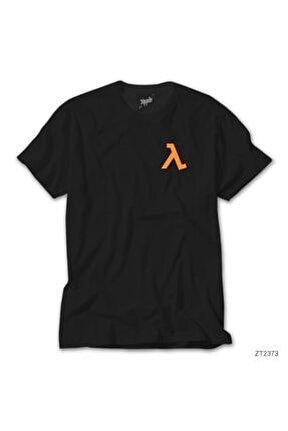 Half Life Logo Pocket - Kopya Siyah Tişört