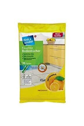 Islak Yer Bezi Limon Kokulu 22x30 Cm 16'lı