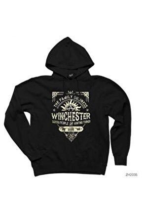 Supernatural A Very Winchester Siyah Kapşonlu Sweatshirt / Hoodie