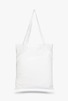 Beyaz Bez Çanta C0005