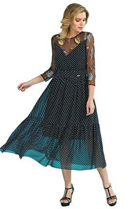 Kadın Siyah Elbise Gtr18264-Dress