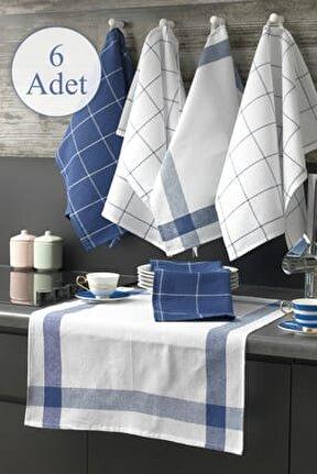 6'lı Mutfak Peçetesi Seti Mavi