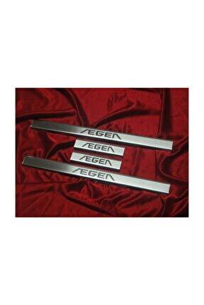 Fiat Egea Lazer Kumlama Krom Kapı Eşiği 4 Parça 2015 Üzeri