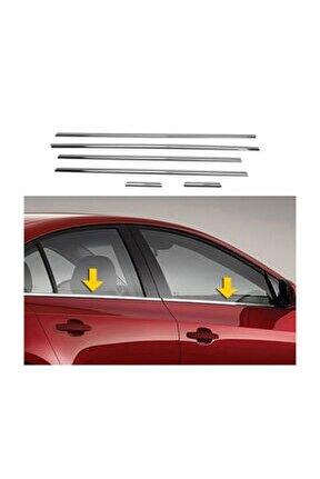 Volkswagen Jetta Krom Cam Çıtası 6 Parça 2011 Üzeri Paslanmaz Çel