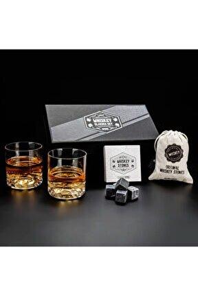 Premium Kutuda 2'li Chicago Viski Bardak Kadeh Seti - Viski Bardağı