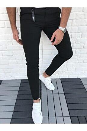 Soft Kumaş Düz Renk Likrali Kumaş Pantolon