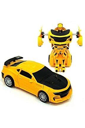 Bumblebee Transformers Oyuncak Robota Dönüşebilen Çekbırak Araba