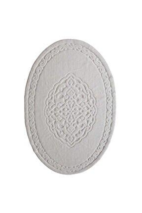 Ottoman %100 Pamuk Yıkanabilir Kemik Oval Halı