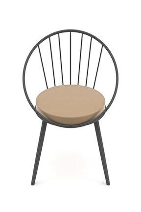 Eylül Metal Tel Sandalye Antrasit Gri
