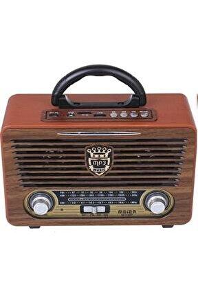 Eskitme Nostalji Tasarımlı Bluetoothlu Nostalji Radyo 115bt