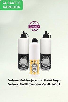 Hybrid Multisurface H-001 Beyaz 1 Litre+su Bazlı Yarı Mat Vernik 500ml.