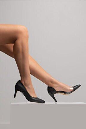 Kadın Siyah Şeffaf Detay Stiletto
