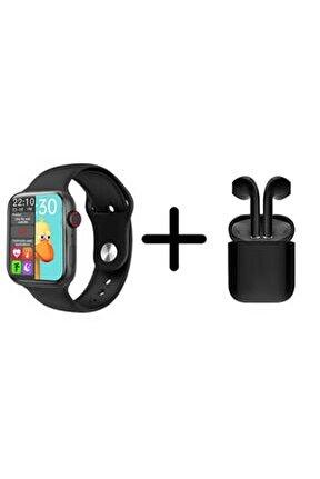 Hw16 Plus Akıllı Saat Yan Tuş Aktif + I12 Tws Bluetooth Kulaklık Ikili Kombin