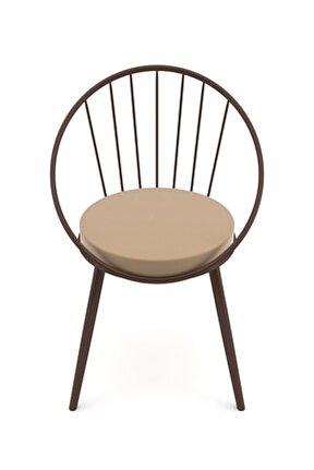 Eylül Metal Tel Sandalye Kahve