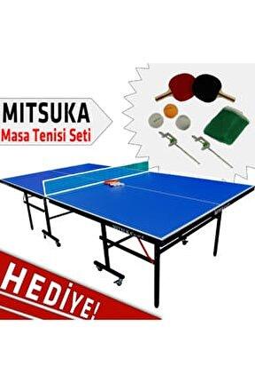 Play-B2 Mavi Masa Tenis Masası - Mitsuka Masa Tenis Seti