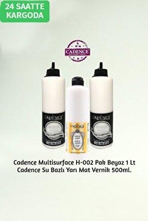 Hybrid Multisurface H-002 Pak Beyaz 1 Litre + Su Bazlı Yarı Mat Vernik 500ml.