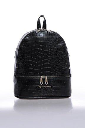Luxury Sg1584 Siyah Krk Kadın Sırt Çantası