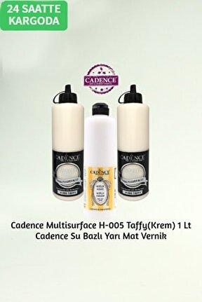 Hybrid Multisurface H-005 Taffy(krem) 1 Litre + Su Bazlı Yarı Mat Vernik 500ml.
