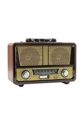 M-112bt Şarjlı Nostaljik Bluetooth Fm Radyo Usb/sd/mp3