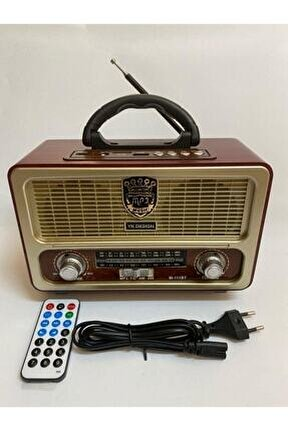 Bluetoothlu Kumandalı Usb Nostalji Radyo Tfcard