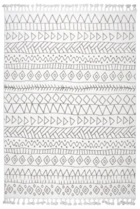 Çam Halı Libas Lb1605 Beyaz Kahve Iskandinav Tarzı Modern Halı